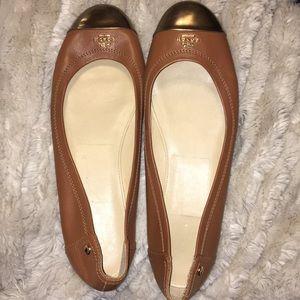 Coach tan/brown ballerina flats